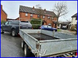 Ifor Williams lm126 flat bed trailer drop sides car transporter no vat