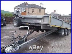 Ifor Williams tri axle/ tilt bed car trailer. No VAT