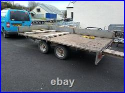 Indespension flat sided trailer with ramps used
