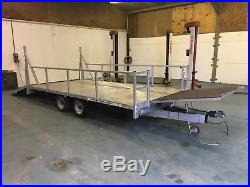 Indespension plant/car trailer twinn axle beaver tail