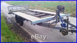 Indespension tilt bed car transporter trailer