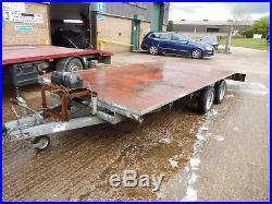 Indespension trailer 2600kg. Twin axle Car transporter trailer. Plant trailer