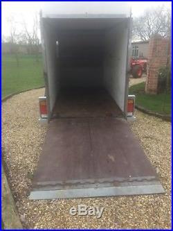 LARGE TWIN AXLE BRAKED BOX TRAILER, Loading RAMP DOOR