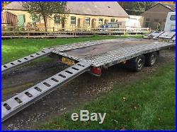 PRG 16Ft x 7ft Beavertail Car Transporter trailer optional Brian James tyrerack