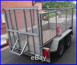 Plant/Cargo Trailer 8x4 Double axle 2600kg Galvanised Indespension Ivor Williams