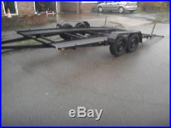 RACE car trailer 2.5 tonnes twin wheel just had full re furb recovery X5 FITS