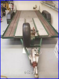 Scott Twin Axle Refurbished Car Transport Trailer Braked, Heavy Duty Winch
