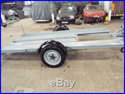 Small Car Transporter Trailer Old but sturdy, rated 3360 Lbs Recent Overhaul