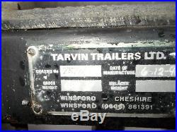Tarvin box trailer 6x4 stationary engine motorbike auto jumble camping car boot