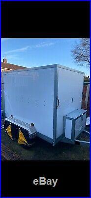 Tickners Box Trailer Twin axle 7'x5'x5' with rear aluminium drop down ramp