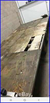 Tilt bed transporter trailer 2004 3500kg flat bed