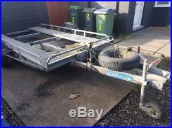 Tilt car transporter trailer