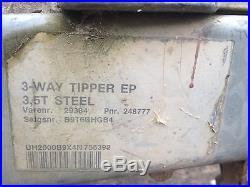 Tipping Trailer 3 Way Tip 10x6ft 3500kg Brenderup Braked Ramps Digger Car
