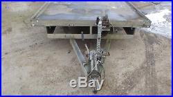 Tri Axle Flatbed Trailer Car Transporter / Plant Trailer + Ramps