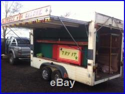 Twin Axle Box Trailer Roller Shutter + Side Opening Fairground Game Market Stall