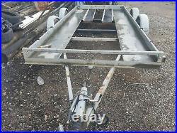 Twin axle Galvanized car Transporter Trailer 14ft 6ft 2500kg