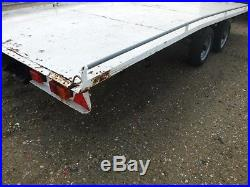 Twin axle beavertail trailer 3500kg car transporter not ifor williams