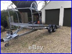 Twin axle car transporter trailer