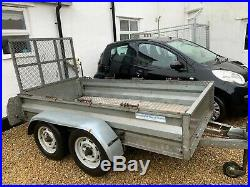 Twin axle galvanised braked car trailer with ramp tailgate 2000kg GVW