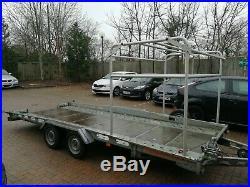 Twin axle tilted car transporter trailer