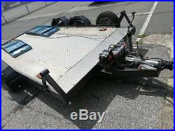Twin axle trailer. Has been refurbished with new decking