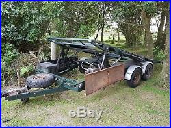 Twin deck car transport trailer 3.5 ton