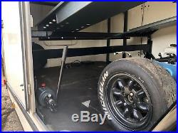 Two car PRG race track car enclosed covered trailer transporter VGC Brian James