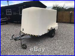 Unbraked Fibreglass box trailer 750kg Solid Will Suit Many Uses L@@K