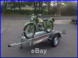 Used/Secondhand Heavy Duty Motorbike Trailer-Goldwing/Harley/Scooter Motorhome