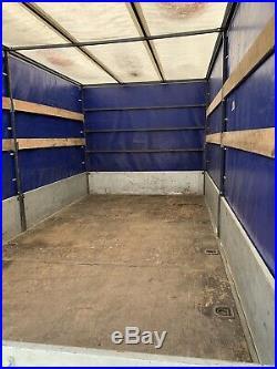 Used twin axle Braked box trailer
