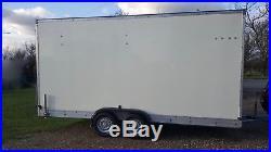 Very Large Twin Axle Braked Ramp Door Transporter Box Trailer Excellent