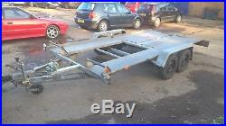 WIOLA flat bed/ car transporter trailer recovery 13ft x 6ft 4.0m x 1.90m 2700 kg