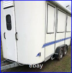 Wessex 14ft Box Trailer Removal Catering Horse box Show Twin Axle Awning Pegasus