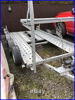 Woodford Lightweight Car Transporter Trailer Electricwinch Tyre Rack Spare Wheel