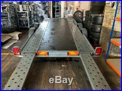 Woodford Wide body Twin Axle Car Transporter Tilt Bed Trailer 1800KG Load